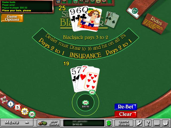 What casinos offer single deck blackjack casino free blackjack computer